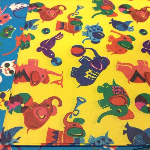 包装紙レトロイラスト 4種類4枚セット 約b4サイズ 山内屋商店 会津